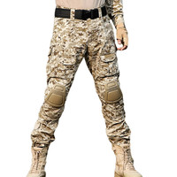 New Fashion Men Camouflage print Long Pants Military fans black green Patchwork Pockets Camo Combat Tactical Outdoor trouser