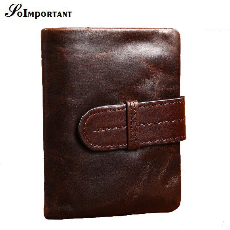Vintage Men Wallets Small Coin Purse Genuine Leather Short Mens Wallet Male Clutch Purses Card Holder Men Walet With Coin Pocket