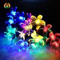 12m 100L Novelty Decor. Multicolor Solar LED String Lights Outdoor Garden Rose Cherry Lotus Animal Wedding Decoration Lightings