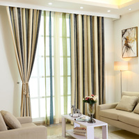 Striped Fabric For Curtain Cotton Blinds Yarn Drapes Curtains For Lving Room Balcony cortinas dormitorio rideaux pour le salon