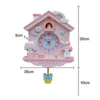 Cartoon Hello Wall Clock Modern Design Kids Girls Childrens Room Bedroom Wall Quartz Best Selling 2019 Products Seahawks 3DBG13V