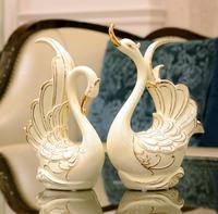 Upscale household TV ark swan to set up a creative family living room decoration.