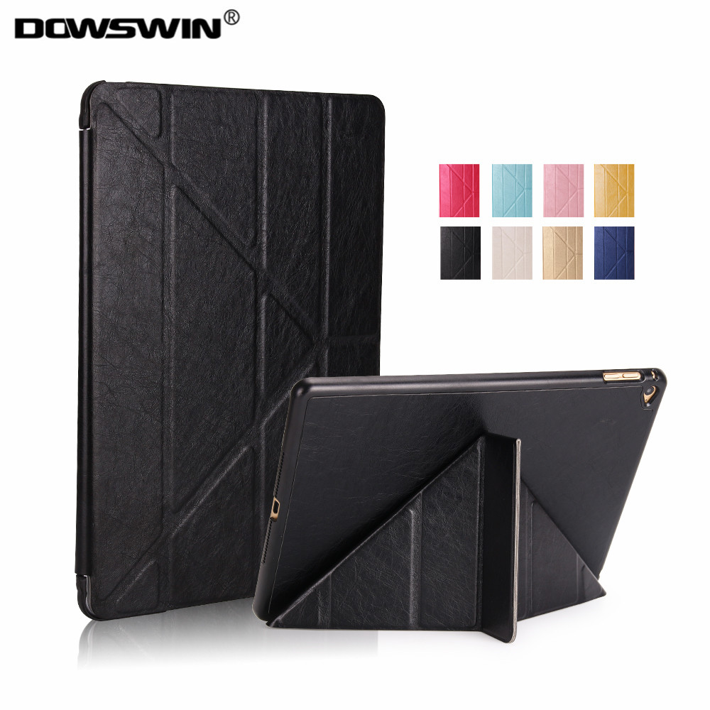 DOWSWIN case for iPad air 2 smart cover pu leather case for ipad air 2 Auto Sleep and Wake up Flip Case For iPad A1566 A1567 protective flip open pu leather case w auto sleep for ipad air deep blue