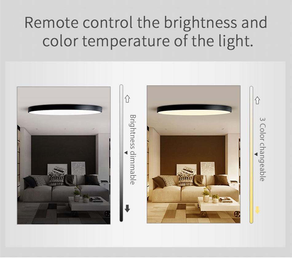HTB1k NXaJfvK1RjSspfq6zzXFXac LED Ceiling Light Lamp Modern Lighting Fixture Bedroom Kitchen Foyer Simple Surface Mount Flush Panel Living Room Remote Control