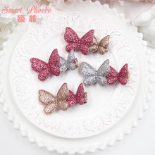 Boutique 20pcs Fashion Glitter Cute Butterfly Hairpins Kawaii Cartoon Animal Mix Colors Hair Clips Hair Accessories Headwear