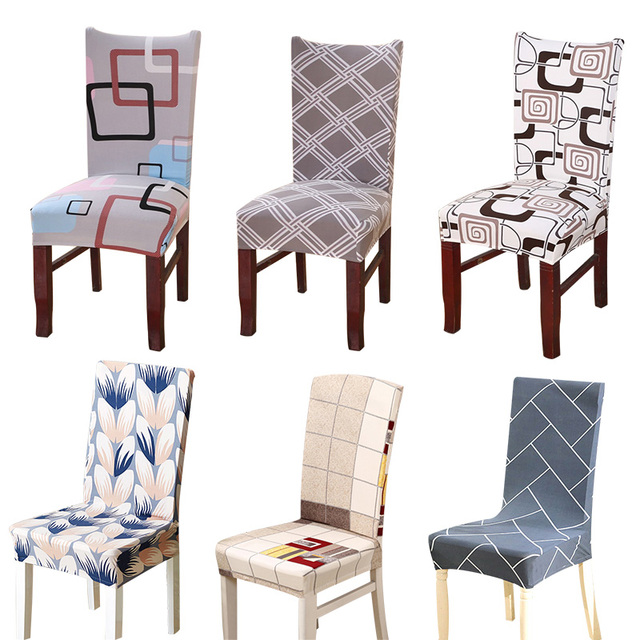 dining chair covers in store barrel swivel chairs living room aliexpress com buy 1pcs plaids flower pattern stretch home decor cover spandex decoration covering office banquet 025