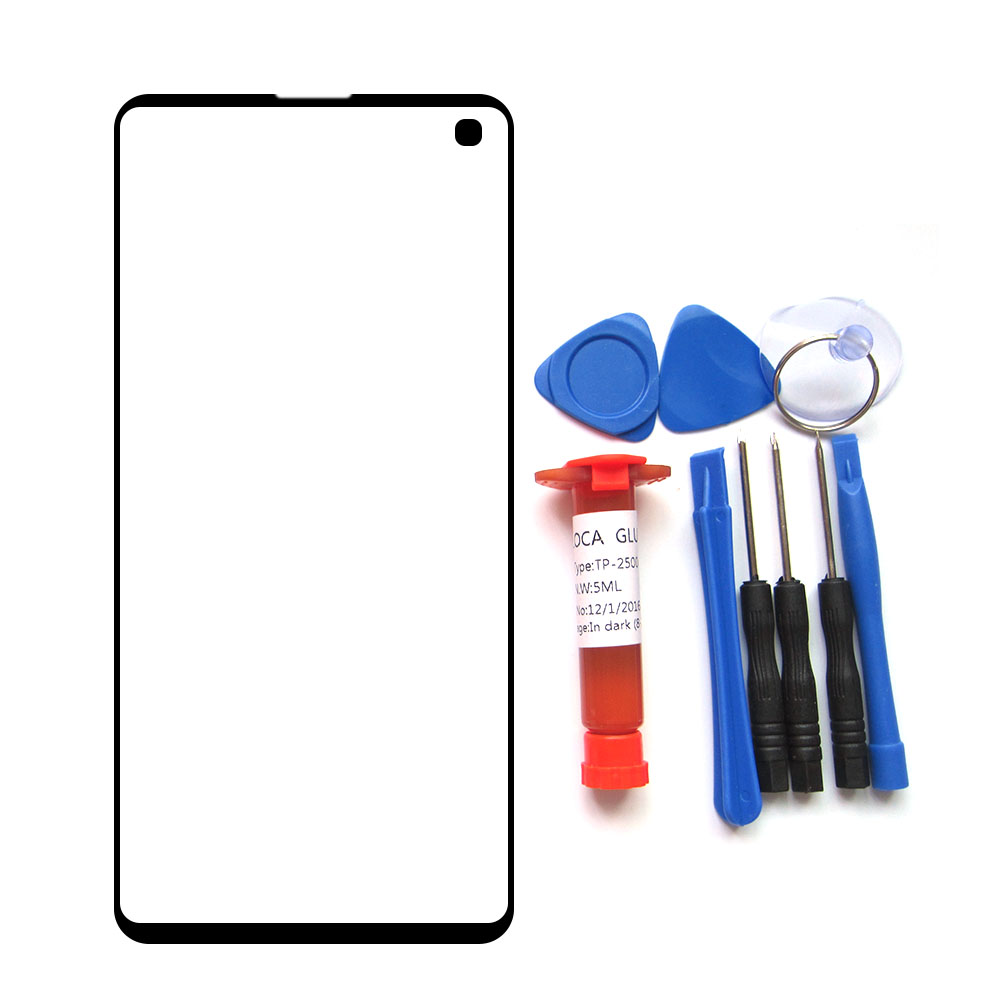 Front Outer <font><b>Glass</b></font> Lens for <font><b>Samsung</b></font> <font><b>Galaxy</b></font> S10 <font><b>S8</b></font> S9 Plus Note 8 Note9 Black LCD touch Screen <font><b>Replacement</b></font> Parts & tools & uv glue image