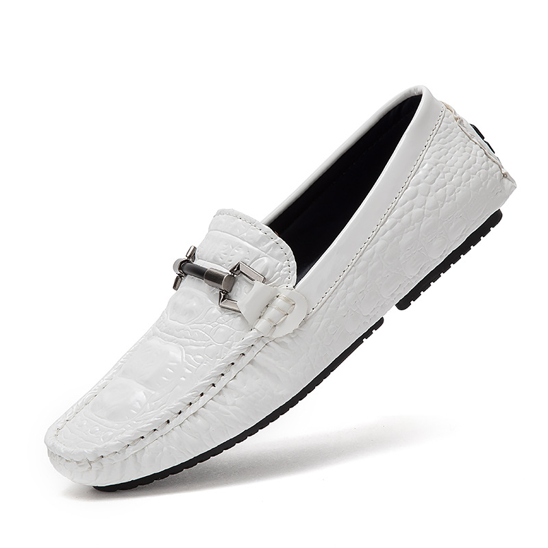 Hommes De Glissent Split Mode En Appartements Respirant Nouveau blanc Cuir Sur 2018 2a Chaussures Marque Doux Mocassins Noir Conduite Luxe bleu Cwq8I5Ixz