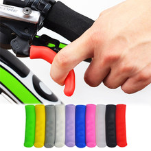 1 Pair Bicycle Handlebar Grips Protector Mountain Bike Brake Lever Protective Sleeve Non-slip Silicone Accesorios Bicicleta(China)