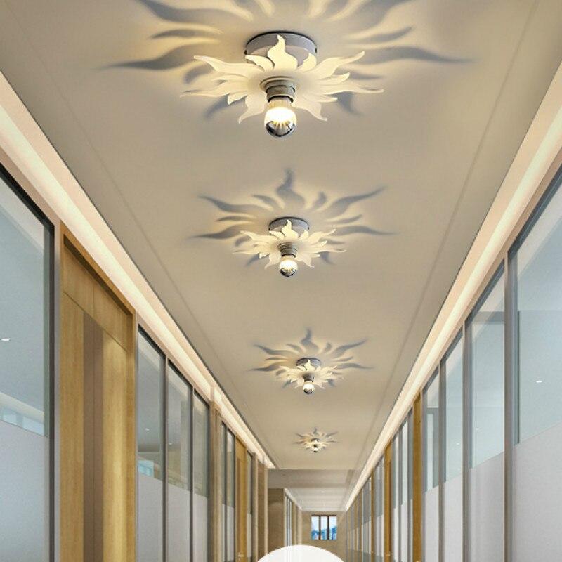 Işıklar ve Aydınlatma'ten Tavan Işıkları'de Çocuk 1 pcs led gölge lamba 7 W led Koridor yatak odası Tavan lambası için çalışma Giriş Balkon tavan armatürleri e27 ofis aydınlatma title=