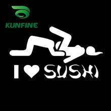 Car Sticker Tuning-Parts Love Sushi Decoration-Film Vinyl Decal KUNFINE Diy