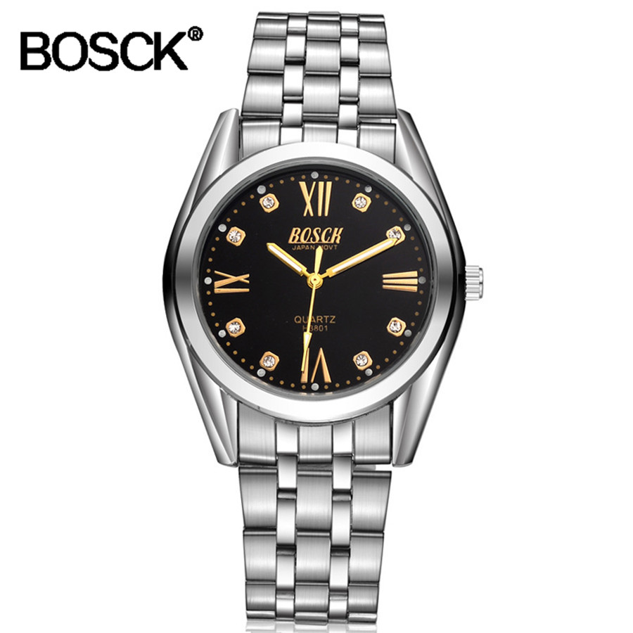 Casual Clock Waterproof Male Watches Luxury Quartz Watches Men Brand Stainless Steel Watch Men Siliver Waterproof Luminous Watch clock