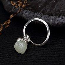 Jinwateryu S925 серебро кольцо Белый лотос инкрустированные открытие дамы высокого класса ювелирные изделия