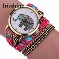 Irisshine i0678 lady Women Girl Rhinestone Elephant Pattern Quartz Bracelet Wrist Watch Women Watches Gift