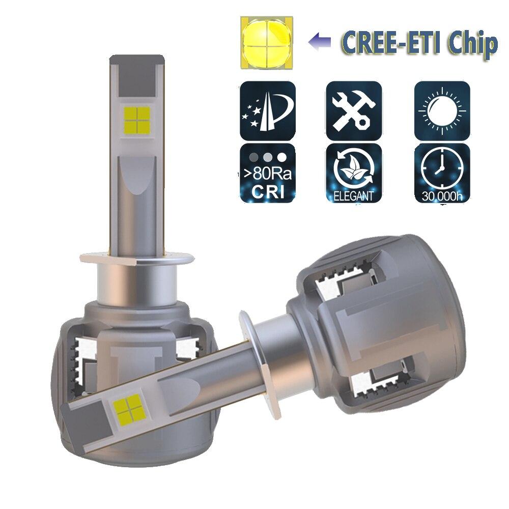 LED Car Headlight H1 P145S LED Headlight Bulbs Conversion Kit For CREE Chip 120W 12000LM 6000K Auto Headlights Fog Lights
