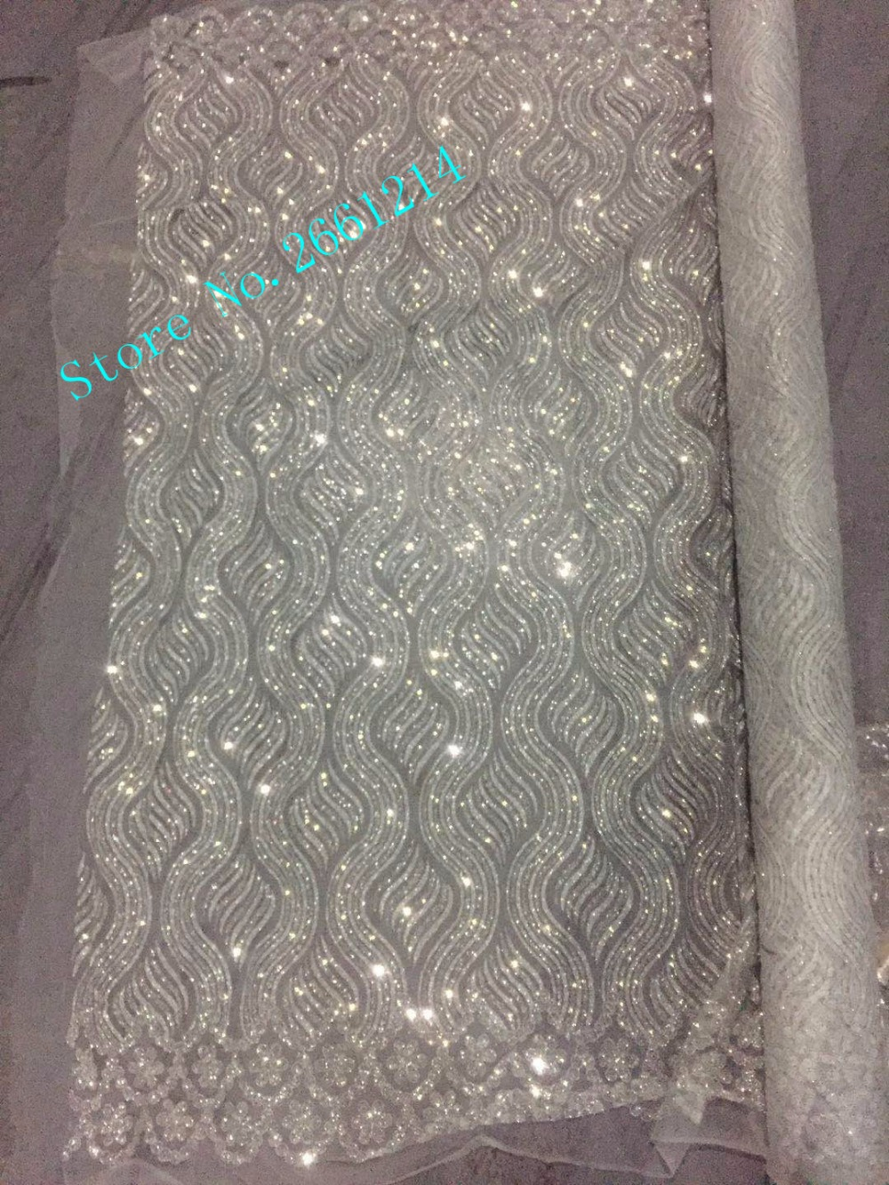 Silver glitter mesh african indian lace fabric BZL 81201 for wedding  evening  dress-in Fabric from Home   Garden on Aliexpress.com  f48947cfb71f