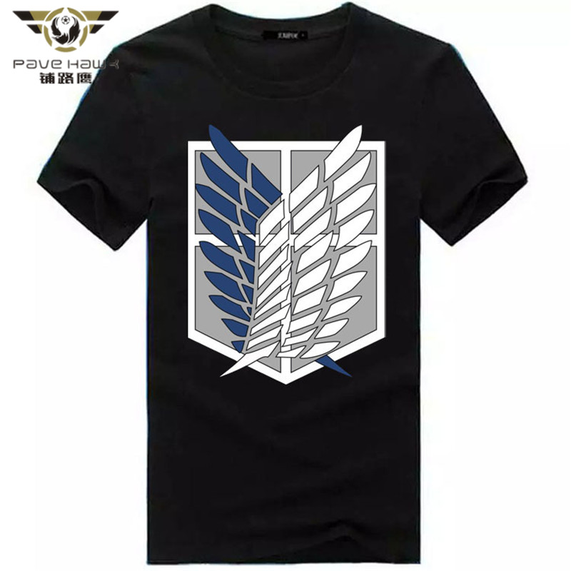 2017 Summer Japanese Anime Attack on Titan t shirt tops fluorescent t shirt Short Sleeve Cartoon Glow in dark Hip hop t-shirt