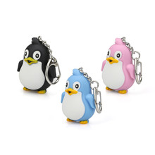 Fashion Cute Cartoon Penguin With LED Light And Sound Keyfob Kids Toy Gift fun gift Z