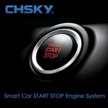 CHSKY универсальная система запуска двигателя автомобиля, кнопка автоматического запуска-остановки, Автомобильная сигнализация, дистанционная Кнопка зажигания двигателя, кнопка запуска