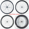 1 пара новых 700C шоссейных велосипедов 38/50/60/80 мм клинчер дисков 3K UD 12K Углеродные волокна велосипедов колесных комплектов с легированной пове...