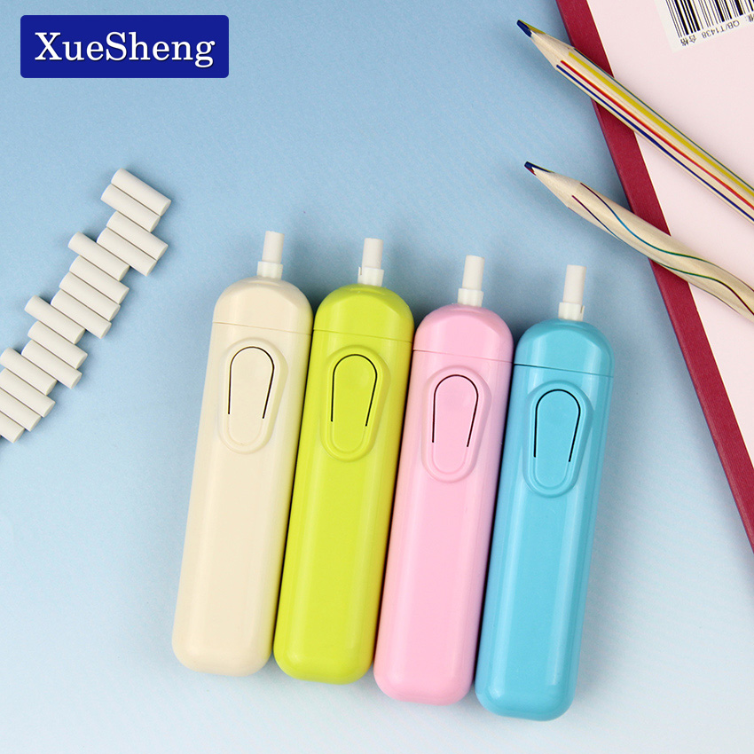 1 PC Battery Operated Eraser Electric Eraser Automatic School Supplies Stationery Child Day Gift Material Escolar
