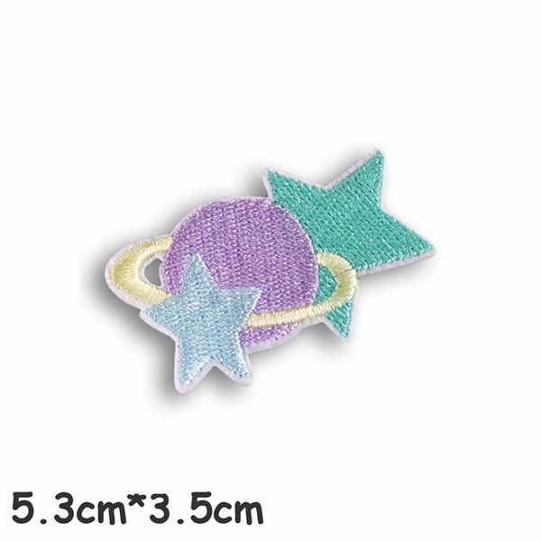 1 piezas OVNI astronauta planeta parche bordado hierro en parches para ropa de rayas pegatinas de insignias
