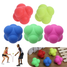 Outdoor Sports Silicone Hexagonal Ball Fitness Agility Coordination Reflex Exercise Workout equipment Training Reaction Ball(China)