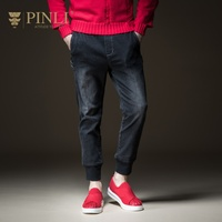 PINLI pin Lai 2018 New Style Men's wear, body length, leisure, jeans, feet and trousers B183216354