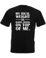 Casual T Shirt Novelty Ideal Weight Is Daryl Dixon On Top Of Me Short Men Crew