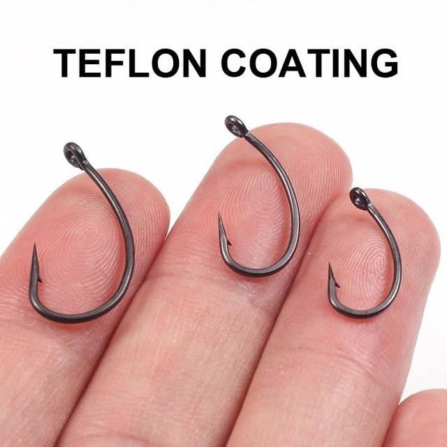 Haiwee 20pcs Carp Fishing Hook Matt Black Teflon Coating Gnippen Hooks made in japan