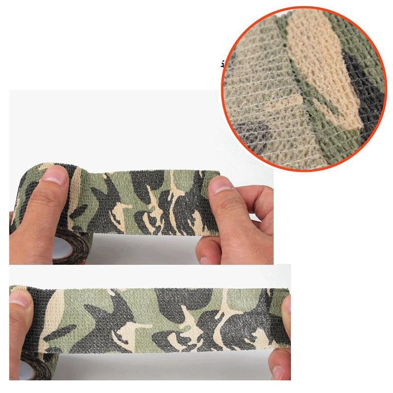 Multifunktionell Camo Tape Non-Woven Självhäftande Camouflage Wrap - Jakt - Foto 3