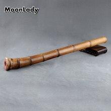 D ключ Вертикальная бамбуковая флейта коричневый бамбуковый музыкальный инструмент Япония традиционный ручной работы духовой инструмент shakuhachi