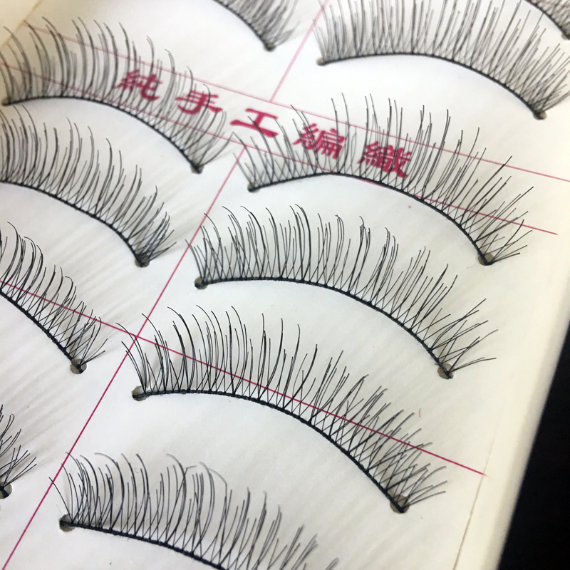 100Pairs Natural Eye Lashes Long Thin Fake Eyelashes False Eyelashes For Women Clear Makeup Tools Handmade Mink Eyelashes