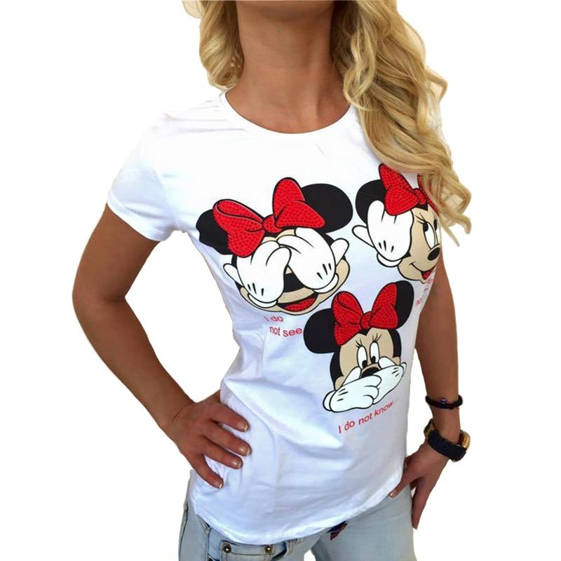 CDJLFH Летняя Новинка 2017 г. футболки Для женщин футболки футболка с принтом сексуальный плюс Размеры футболка Футболки-топы модные белые размеры S и M XL, XXL