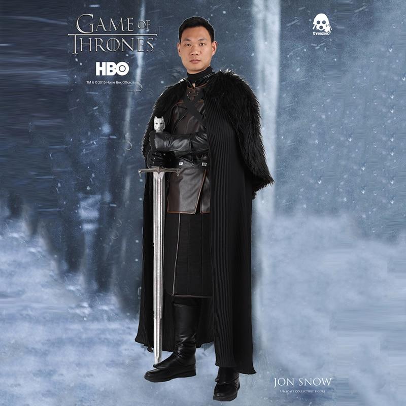 Game of Thrones Jon Neige Cosplay Costume Outfit Halloween Hommes Adulte Manteau Costume Carnaval Vêtements Parti Fait Sur Commande À La Main