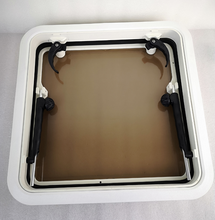 500*500mm Square Marine Grade Nylon Boat Deck Hatch Window With Tempered Glass and Trim Ring