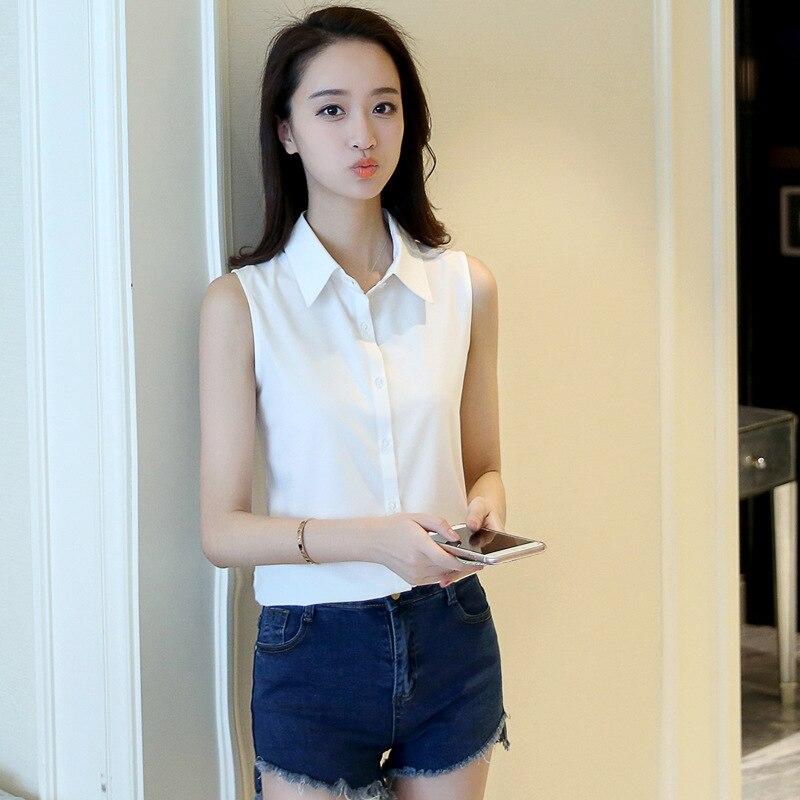 New Fashion Womens Sexy Turn Down Collar Blouse Sleeveless Plus 4XL Shirt Elegant Casual Brand Design Tops Free Shipping MZ1503