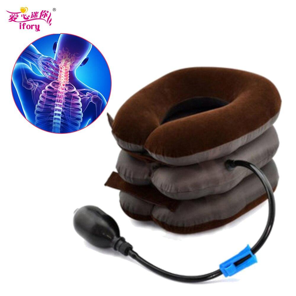 Ifory Gesundheit Care Neck Bahre Aufblasbare Halskrause Traktion Gerät Protector Halswirbel Traktion Neck Massage Medizinische