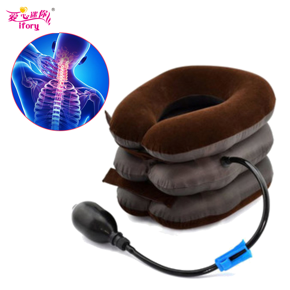 цены Ifory Health Care Inflatable Cervical Collar Traction Device Neck Stretcher Protector Vertebra Traction Massager Medical Care