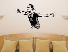Free shipping DIY kids room removable Football Player Decal Wall Sticker free Vinyl decoration stickers