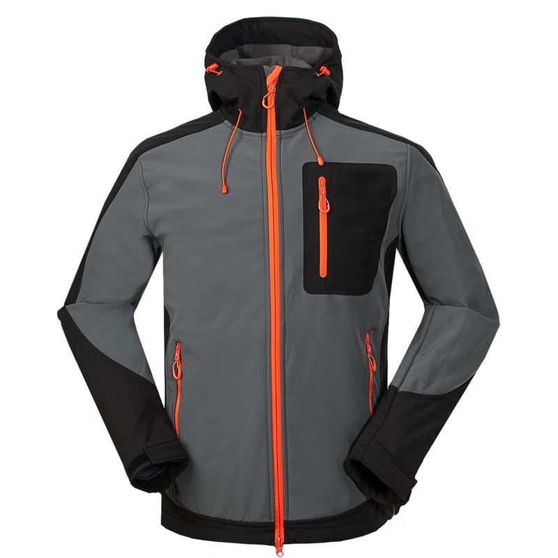 Mens Sports Climbing Camping Soft Shell Coat Windbreaker Jaqueta Masculina Outdoor Softshell Jacket Men Hiking Fishing Clothing