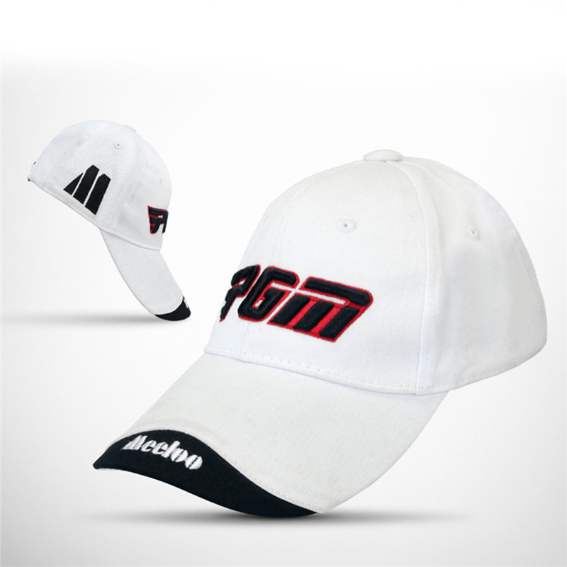 c34f42e5ef1db Unisex Cotton Sunscreen Hat Golf New Spring Summer Caps PGM Embroidery  Trademark Top Hats Hiking Fishing Sport Peaked 5 Colors-in Golf Caps from  Sports ...