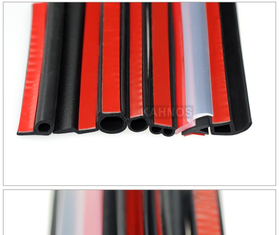 Donci 5Meters Big D Small D Z Shape P Type Car Door Seal Strip Auto Rubber Seal Strips Waterproof Trim Dustproof Sound Insulation Weatherstrip Big D Small D Z P Type