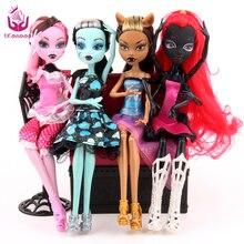 UCanaan 4 unids/set muñecas nuevo estilo articulación móvil cuerpo moda alta calidad chicas plástico juguetes clásicos mejor regalo muñeca bjd diy