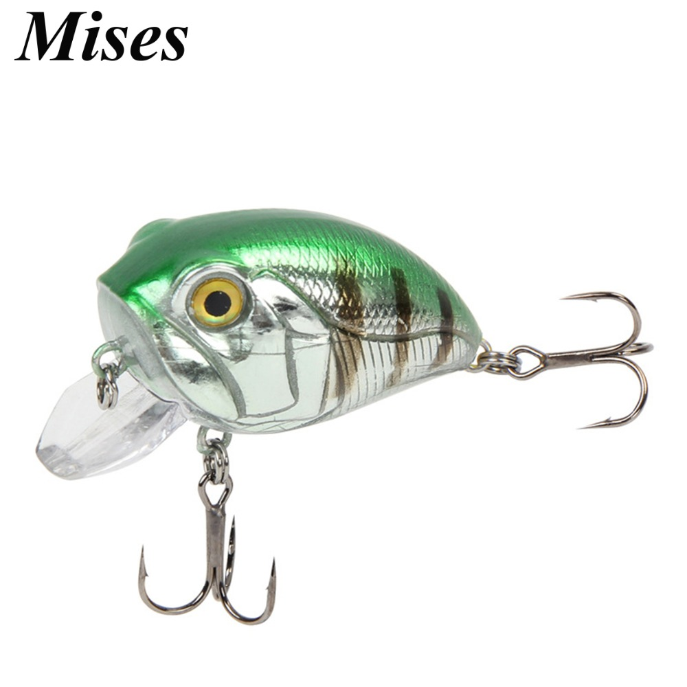 Mises 4cm 8g Seven Colors Floating Bionic Crank Little Fatty Lure Artificial Hard Bait Fishing Lure Professional Fishing Tackles