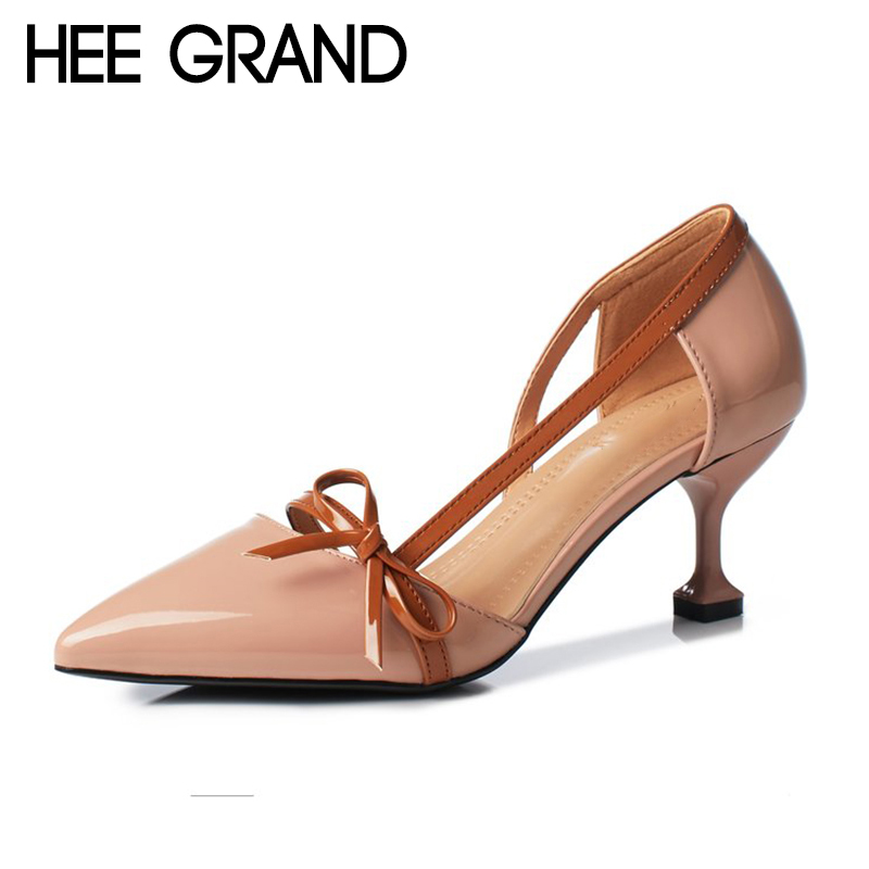 HEE GRAND Bow-knot Women Thin Heels Pumps Women Comfortable Wearing 2018 NEW Trend for the Fashion Shoes Women Heels WXG527HEE GRAND Bow-knot Women Thin Heels Pumps Women Comfortable Wearing 2018 NEW Trend for the Fashion Shoes Women Heels WXG527