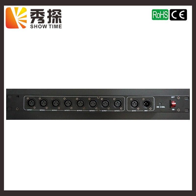 Show время этап свет контроллер DMX512 Splitter Свет усилитель сигнала Splitter 8 способ DMX Дистрибьютор для концертного оборудования