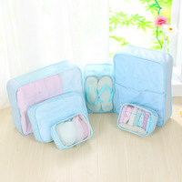 6Pcs/set Travel Bags Clothing Underwear Shoes Packing Organizer Cube Portable Toiletries Storage Pouch Accessory Products