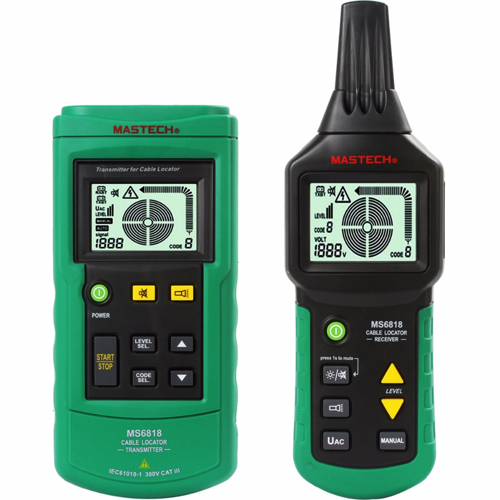 цена на MASTECH MS6818 advanced wire tester tracker multi-function Cable detector 12~400V Pipe Locator Meter pressure transmitter