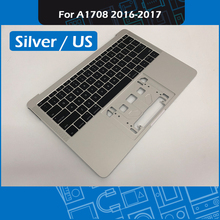 Laptop A1708 Top case + US Keyboard for MacBook Pro Retina 13″ A1708 Topcase Palm rest Silver 2016 2017 MLL42 MPTXQ2